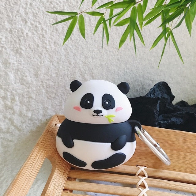 Cute Pudgy Panda Premium AirPods Case Shock Proof Cover