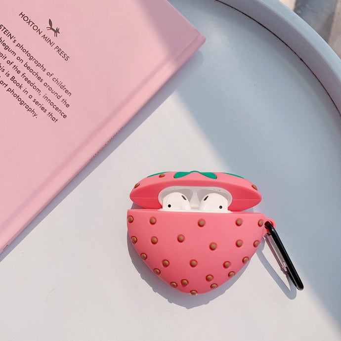 Cute Strawberry Premium AirPods Case Shock Proof Cover