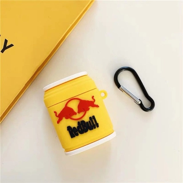 Red Bull Can Premium AirPods Case Shock Proof Cover