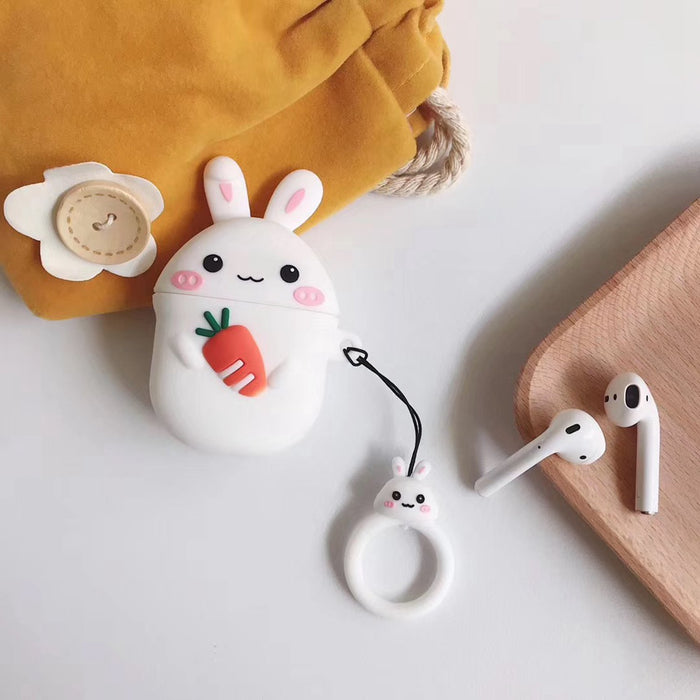 Bunny Holding a Carrot Premium AirPods Case Shock Proof Cover