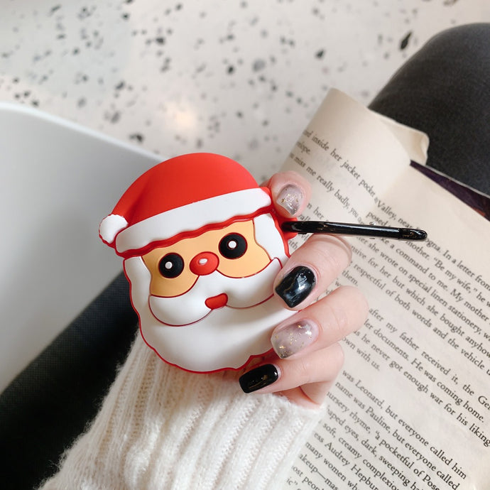 Cute Christmas Santa Premium AirPods Case Shock Proof Cover