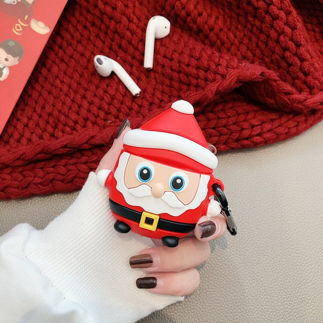 Standing Santa Premium AirPods Case Shock Proof Cover