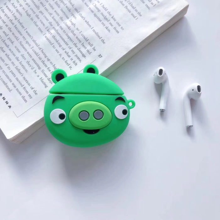 Angry Bird 'Cute Green Pig' Premium AirPods Case Shock Proof Cover
