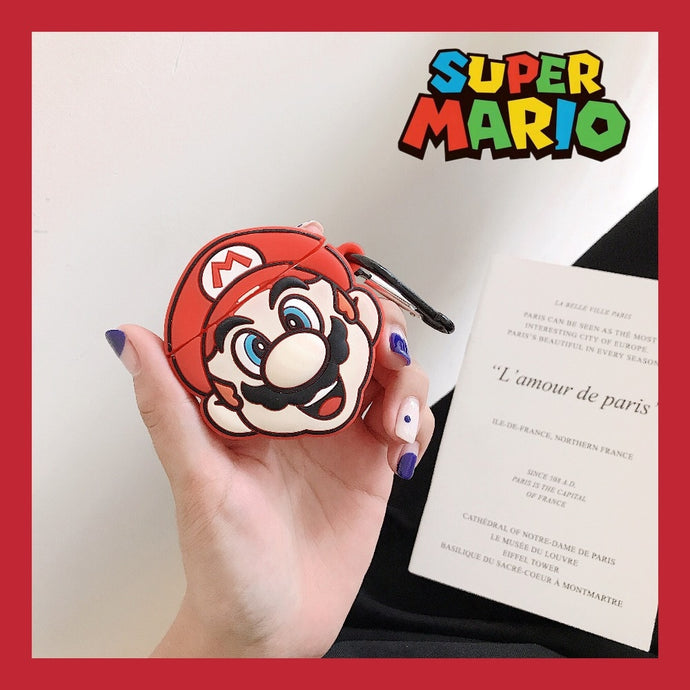 Super Mario Bros. 'Excited Mario' Premium AirPods Case Shock Proof Cover
