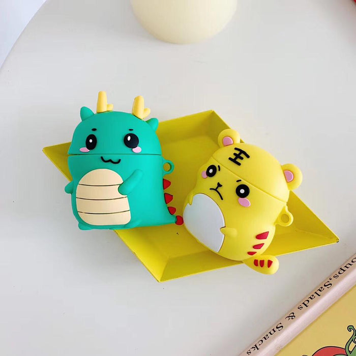 Cute Little Green Dragon Premium AirPods Case Shock Proof Cover
