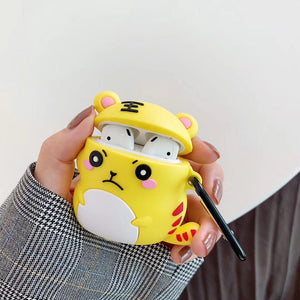 Cute Pouty Tiger Premium AirPods Case Shock Proof Cover