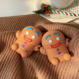Cute Gingerbread Man Premium AirPods Case Shock Proof Cover