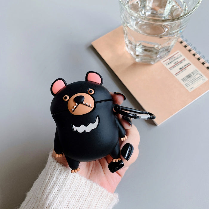 Black Bear Premium AirPods Case Shock Proof Cover
