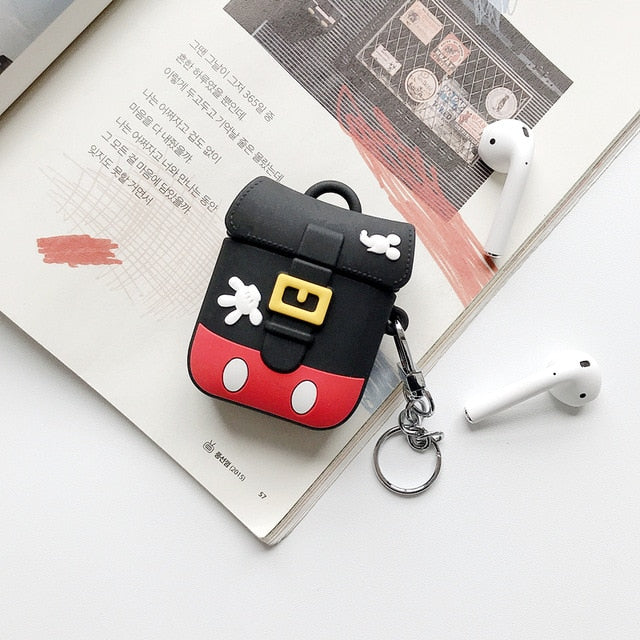 Cute Mickey Mouse Backpack Premium AirPods Case Shock Proof Cover