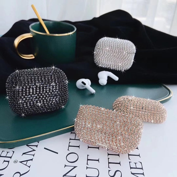 Glitter Rhinestone AirPods Pro Case Shock Proof Cover
