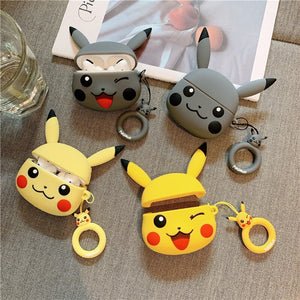 Pokemon 'Grey Winking Pikachu' Premium AirPods Pro Case Shock Proof Cover