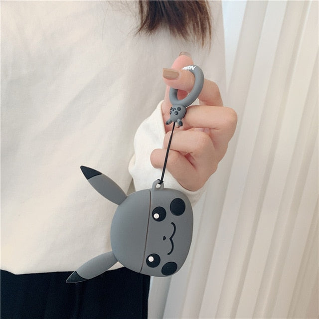 Pokemon 'Grey Pikachu' Premium AirPods Pro Case Shock Proof Cover