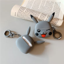 Load image into Gallery viewer, Pokemon 'Grey Winking Pikachu' Premium AirPods Pro Case Shock Proof Cover