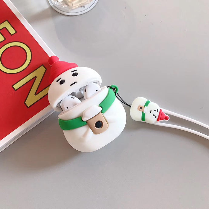 Snowman with Coffee Premium AirPods Case Shock Proof Cover