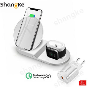 10W Samsung & Iphone Qi Technology Airpods Pro Iphone 3-in-1 Wireless Charging Pad