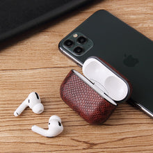 Load image into Gallery viewer, Vegan Snake Skin Leather  AirPods Pro Case Shock Proof