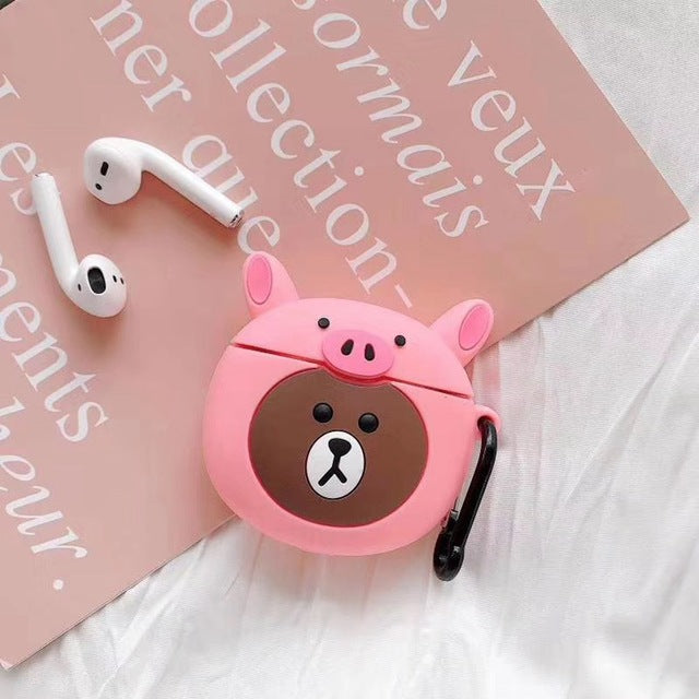 Bear in a Pig Costume Premium AirPods Pro Case Shock Proof Cover