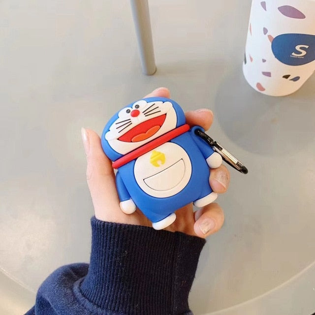 Doraemon 'Standing' Premium AirPods Case Shock Proof Cover