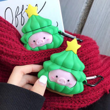 Load image into Gallery viewer, Pig in a Christmas Tree Premium AirPods Case Shock Proof Cover