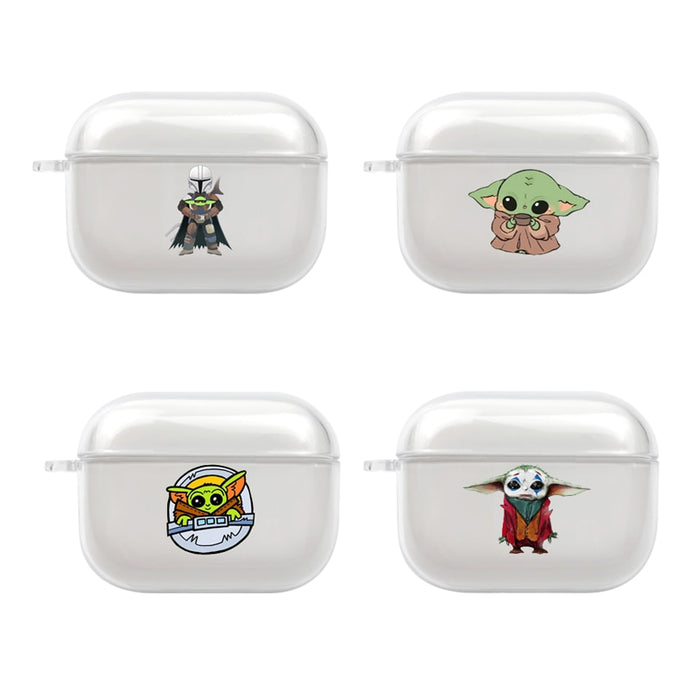 Baby Yoda Clear Acrylic AirPods Pro Case Shock Proof Cover