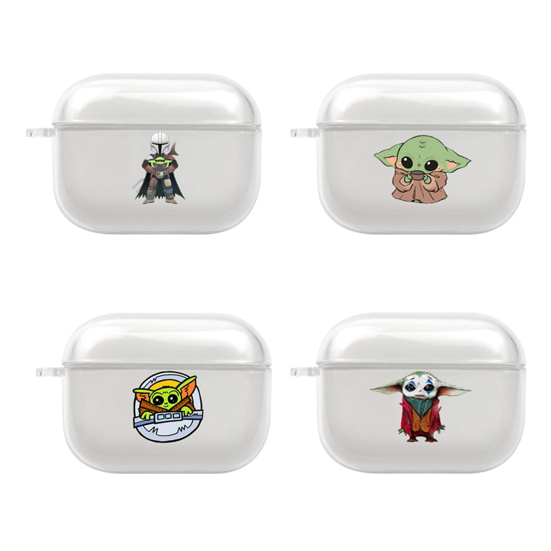 Baby Yoda Clear Acrylic Airpods Pro Case Shock Proof Cover Iaccessorize