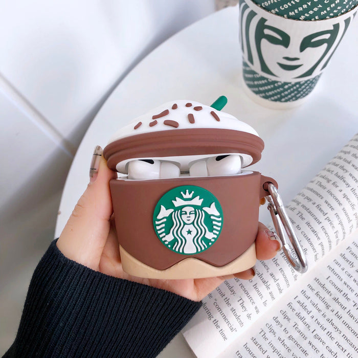 Starbucks Iced Mocha Frappuccino Premium AirPods Pro Case Shock Proof Cover
