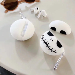 Nightmare Before Christmas 'Jack Skellington | Glow in the Dark' Premium AirPods Pro Case Shock Proof Cover
