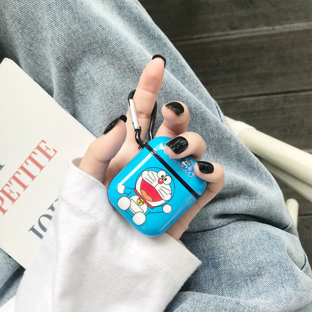 Doraemon 'Excited Mini-Dora' AirPods Case Shock Proof Cover