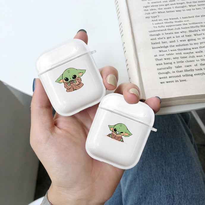 Baby Yoda '2.0' Clear Acrylic AirPods Case Shock Proof Cover