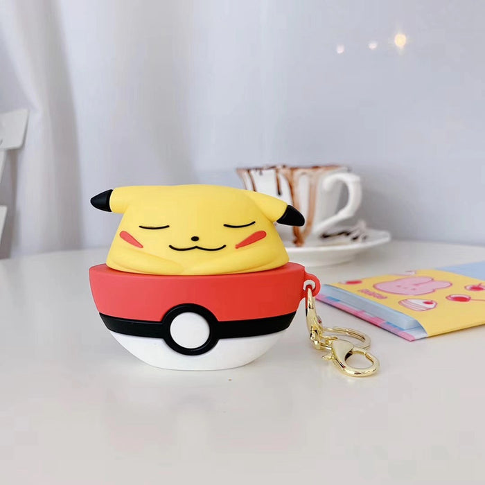'Sleeping Pikachu in a Pokeball' Premium AirPods Pro Case Shock Proof Cover