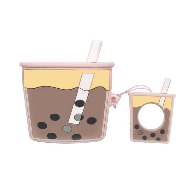 Milk Bubble Tea Premium AirPods Pro Case Shock Proof Cover