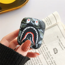 Load image into Gallery viewer, Fashion Camouflage Shark AirPods Case Shock Proof Cover