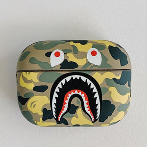 Fashion Camouflage Shark AirPods Pro Case Shock Proof Cover