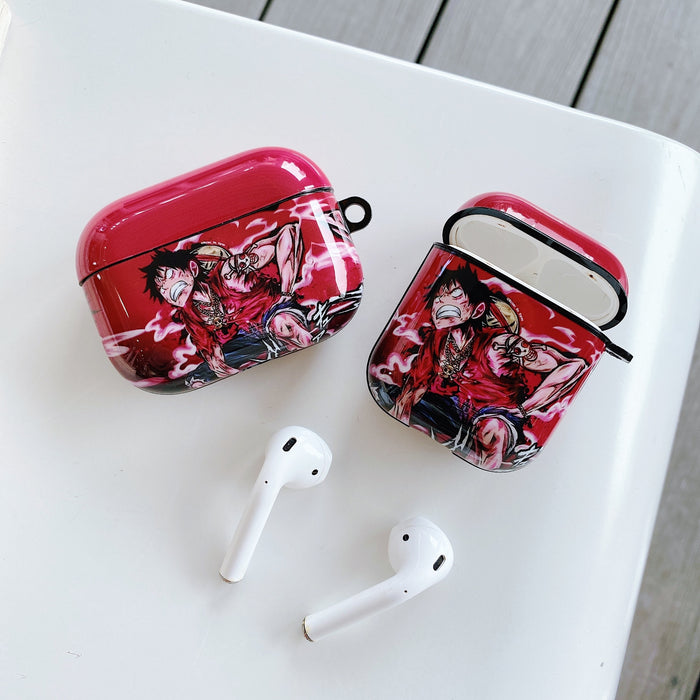 One Piece 'Angry Luffy' AirPods Pro Case Shock Proof Cover
