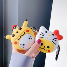 Load image into Gallery viewer, Pokemon 'Hello Kitty in a Pikachu Costume' Premium AirPods Pro Case Shock Proof Cover
