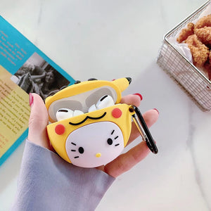 Pokemon 'Hello Kitty in a Pikachu Costume' Premium AirPods Pro Case Shock Proof Cover