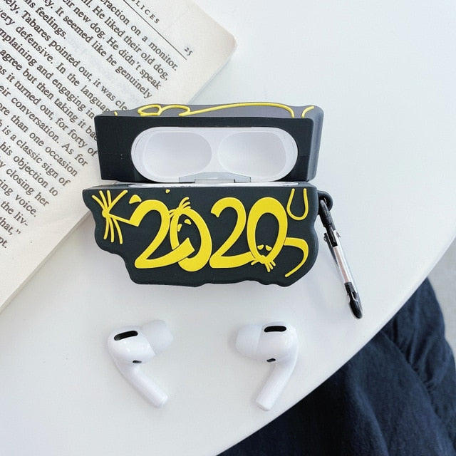 New Year 2020 'Year of the Rat' Premium AirPods Pro Case Shock Proof Cover