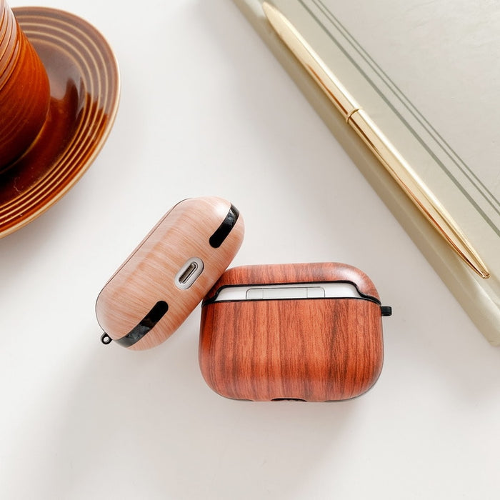 Wood Grain Plastic | TPU AirPods Pro Case Shock Proof Cover