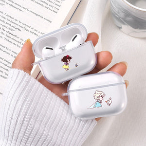 Disney Princess Clear Acrylic AirPods Pro Case Shock Proof Cover