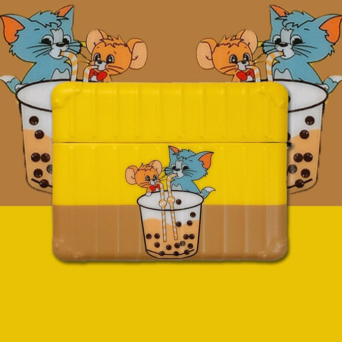 Tom and Jerry 'Buddy Bubble Tea | Modular' AirPods Pro Case Shock Proof Cover