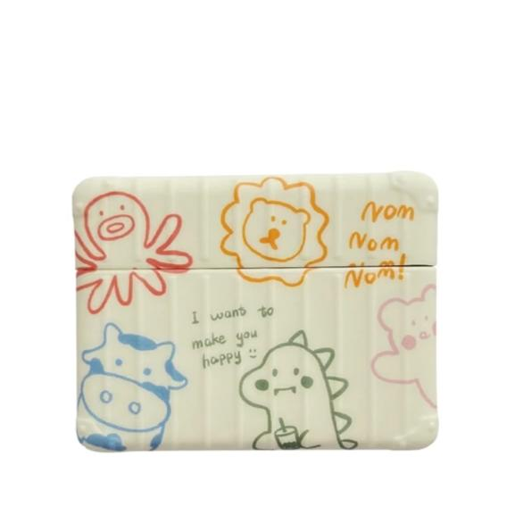 Cute Crayon Drawing Modular Airpods Pro Case Shock Proof Cover