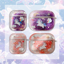 Load image into Gallery viewer, Glitter Liquid Quicksand Unicorn AirPods Pro Case Shock Proof Cover