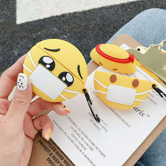 Cute Sick Facemask Emoji Premium AirPods Pro Case Shock Proof Cover