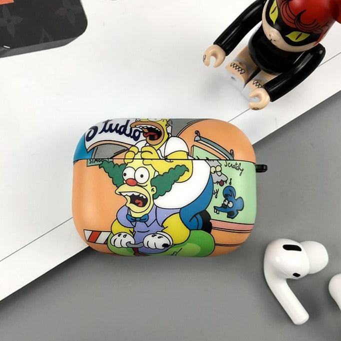 The Simpsons 'Krusty the Clown' AirPods Case Shock Proof Cover