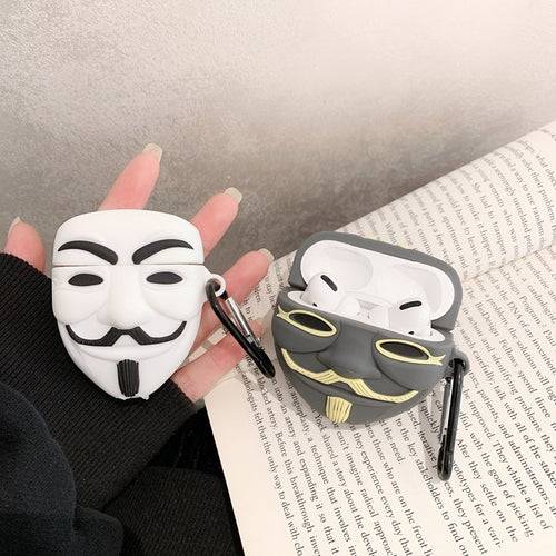 V for Vendetta Mask Premium AirPods Pro Case Shock Proof Cover