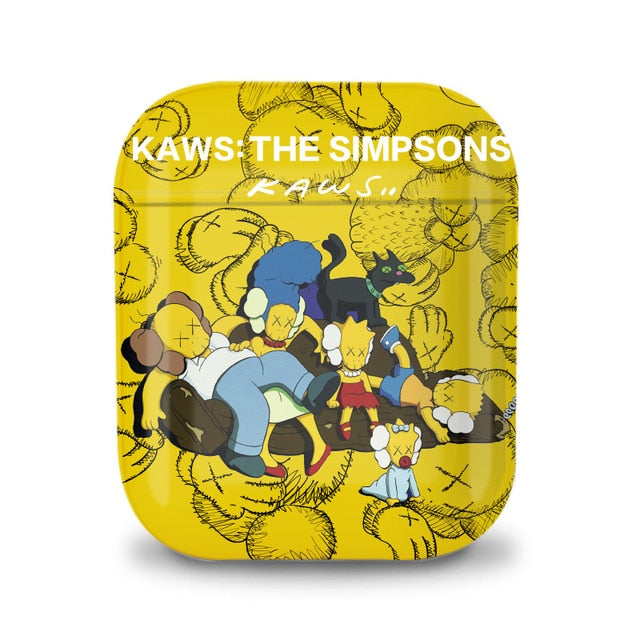 KAWS 'The Simpsons' AirPods Case Shock Proof Cover