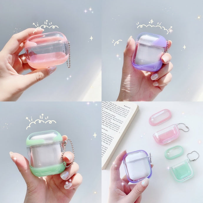 Clear Acrylic Liquid Jelly AirPods Case Shock Proof Cover