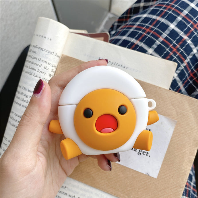 Excited Hard Boiled Egg Premium AirPods Case Shock Proof Cover