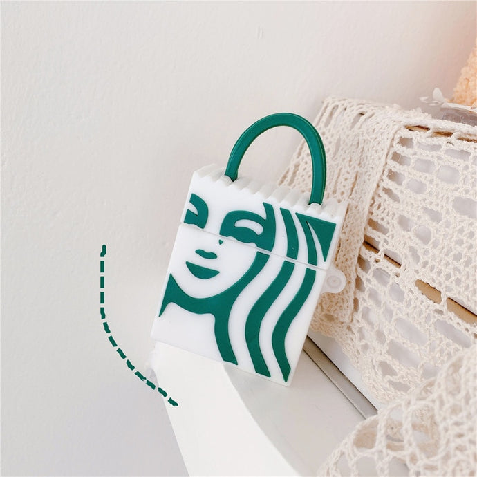 Starbucks Shopping Bag '2.0' Premium AirPods Case Shock Proof Cover