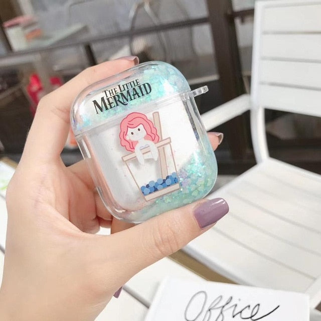 The Little Mermaid 'Bubble Tea' AirPods Case Shock Proof Cover